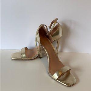 Halston Heritage Gold heels
